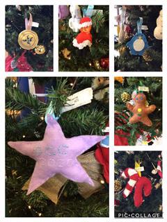 Christmas decorations in Home Economics