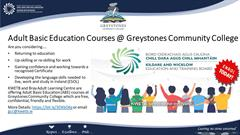 Free Adult Education Courses at Greystones Community College